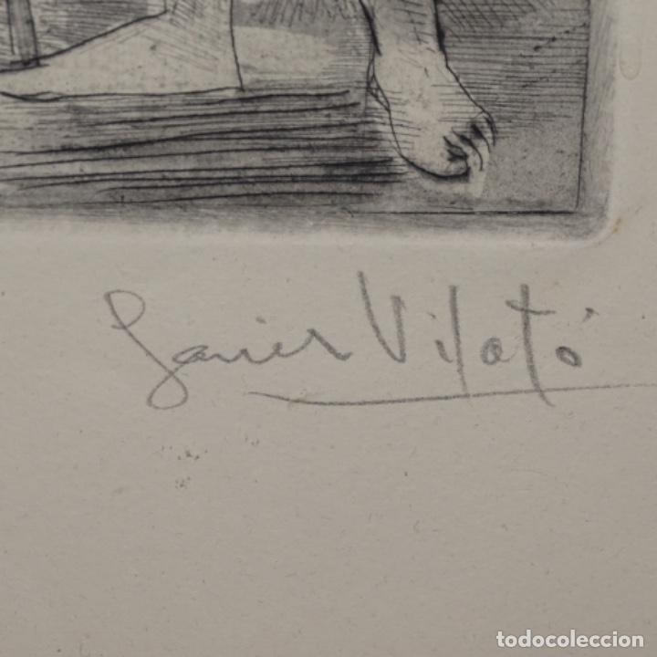 Arte: Grabado aguafuerte de Javier vilato(1921-1999) sobrino de picasso.1945.12/49. - Foto 6 - 152049930