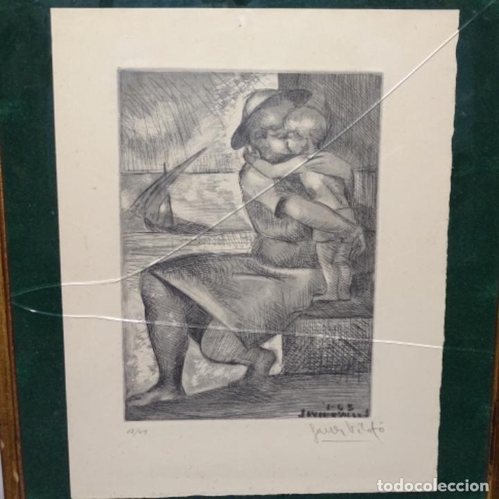 GRABADO DE JAVIER VILATO(1921-1999).SOBRINO DE PICASSO.12/49 (Arte - Arte Religioso - Grabados)