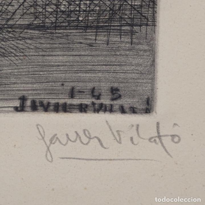 Arte: Grabado de Javier vilato(1921-1999).sobrino de Picasso.12/49 - Foto 6 - 152052078