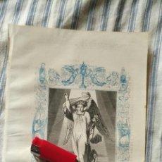 Arte: ANTIGUO GRABADO RELIGIOSO ORIGINAL IMPRESO EN 1851 - EL ARCANGEL SAN GABRIEL . Lote 152208346