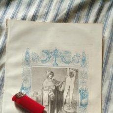 Arte: ANTIGUO GRABADO RELIGIOSO ORIGINAL IMPRESO EN 1851 - SAN RAIMUNDO . Lote 152209230