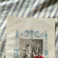 Arte: ANTIGUO GRABADO RELIGIOSO ORIGINAL IMPRESO EN 1851 - SAN MELITON. Lote 152209554