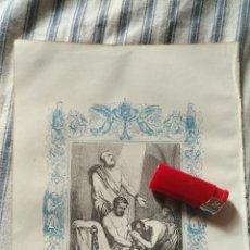 Arte: ANTIGUO GRABADO RELIGIOSO ORIGINAL IMPRESO EN 1851 - SAN EUSEBIO . Lote 152209994