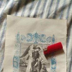 Arte: ANTIGUO GRABADO RELIGIOSO ORIGINAL IMPRESO EN 1851 - EL SANTO ANGEL DE LA GUARDA Y NIÑO JESUS. Lote 152210446