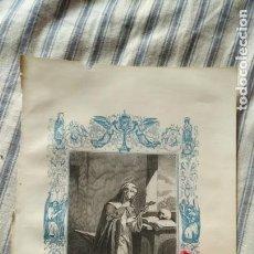 Arte: ANTIGUO GRABADO RELIGIOSO ORIGINAL IMPRESO EN 1851 - SANTA ESCOLASTICA. Lote 152212014