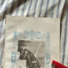 Arte: ANTIGUO GRABADO RELIGIOSO ORIGINAL IMPRESO EN 1851 - SAN ROMUALDO. Lote 152212394