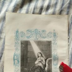 Arte: ANTIGUO GRABADO RELIGIOSO ORIGINAL IMPRESO EN 1851 - SANTA AGUEDA VIRGEN Y MARTIR. Lote 152212462