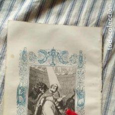 Arte: ANTIGUO GRABADO RELIGIOSO ORIGINAL IMPRESO EN 1851 - OBISPO SAN IGNACIO DE ANTIOQUIA . Lote 152213066