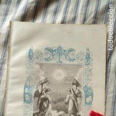 Arte: ANTIGUO GRABADO RELIGIOSO ORIGINAL IMPRESO EN 1851 - JHS ANGELES EL DULCE NOMBRE DE JESUS. Lote 152214010