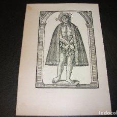 Arte: SIGLO XIX GRABADO XILOGRAFICO CRISTO AFLIGIDO O VARON DE DOLORES - RELIGION. Lote 152339774