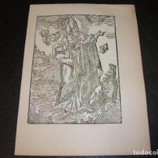Arte: SIGLO XIX GRABADO XILOGRAFICO DE SAN AMBROSIO - RELIGION. Lote 152340450