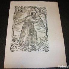Arte: SIGLO XIX GRABADO XILOGRAFICO NAZARENO CRISTO - RELIGION. Lote 152341734