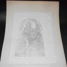 Arte: SIGLO XIX GRABADO XILOGRAFICO DOBLE LA MAGDALENA Y SAN ANTONIO - RELIGION. Lote 152342234