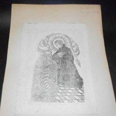 Arte: SIGLO XIX GRABADO XILOGRAFICO DOBLE SAN ANTONIO Y SAN LUIS GONZAGA - RELIGION. Lote 152342758