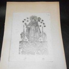 Arte: SIGLO XIX GRABADO XILOGRAFICO DOBLE SAN AMBROSIO Y SAN FRANCISCO DE PAULA - RELIGION. Lote 152344194