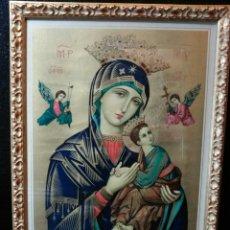 Arte: PRECIOSO CUADRO VIRGEN SOCORRO. 1961. Lote 152419980