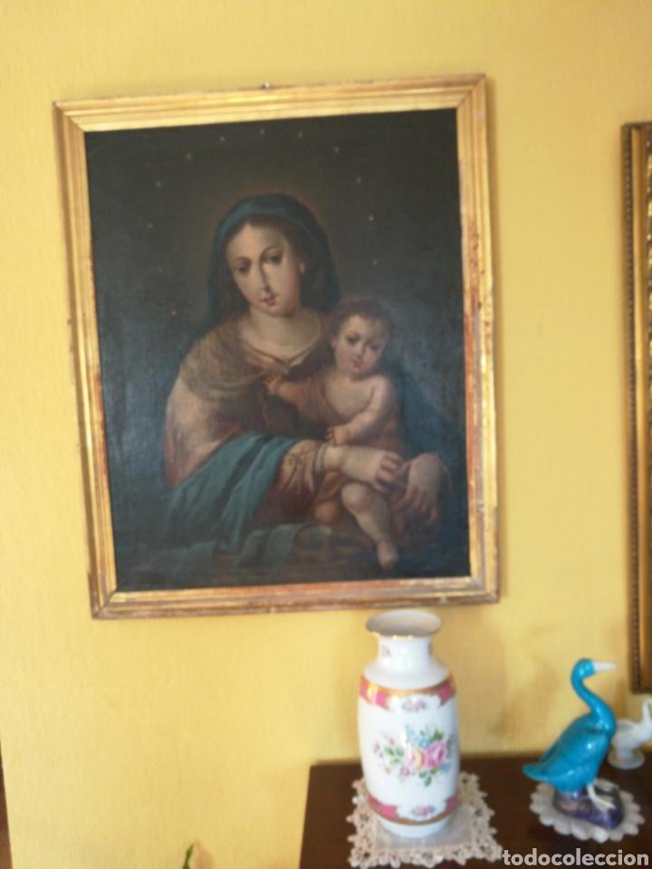 Arte: Virgen de Rosario con niño, siglo XVIII. - Foto 5 - 129006199