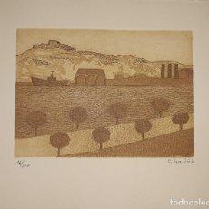 Arte: LITOGRAFÍA NUMERADA CONCHA IBÁÑEZ. PORT BARCELONA.. Lote 152493378