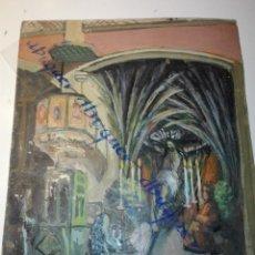 Arte: APUNTE DEL NATURAL, CAPELLA DEL CONVENT DELS ANGELS , SEMANA SANTA, CA. 1910. J. CARRERA. Lote 152495866