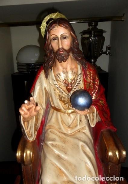 Arte: Sagrado corazon sobre trono de Olot - Foto 2 - 152517934