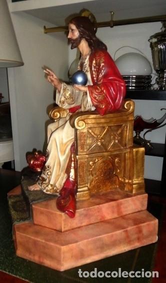 Arte: Sagrado corazon sobre trono de Olot - Foto 3 - 152517934