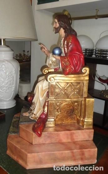 Arte: Sagrado corazon sobre trono de Olot - Foto 4 - 152517934