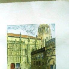 Arte: TÉCNICA MIXTA. LAFITA PORTABELLA. SALAMANCA. ESTUDIANTES Y OTROS PERSONAJES. FIRMADO A MANO. Lote 152570114