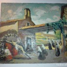 Arte: APUNTE DEL NATURAL, BERGA, ERMITA DEL ROSER POR SEMANA SANTA DE J. CARRERA, CA 1910-1930. Lote 152593966