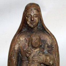 Arte: VIRGEN Y NIÑO-ESCUELA COLONIAL DEL SG XVII- DE COLECCIÓN.. Lote 152620786