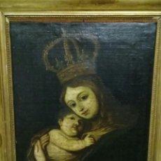 Arte: VIRGEN DE BELÉN CON NIÑO S.XVIII. Lote 152792978