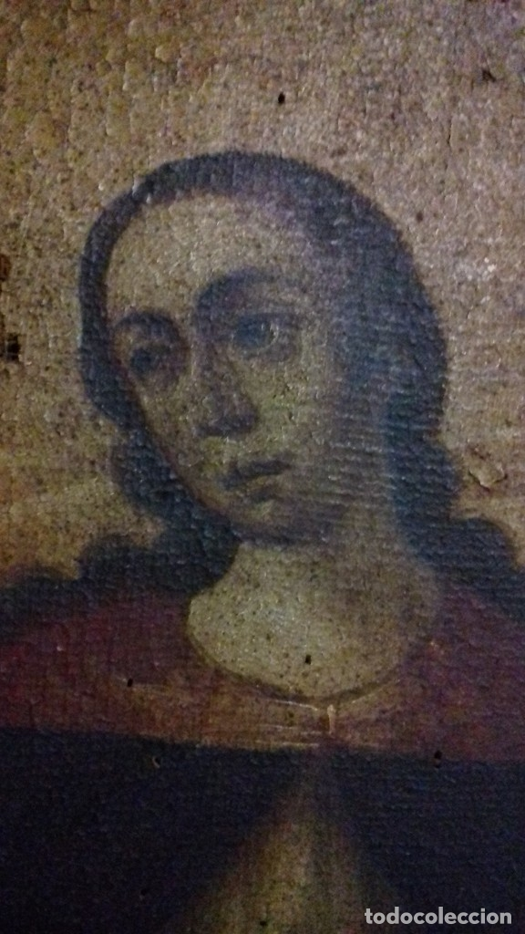 Arte: INMACULADA. SIGLO XVIII. ESCUELA ESPAÑOLA. ÓLEO SOBRE LIENZO. 87x65,4. - Foto 2 - 152842322