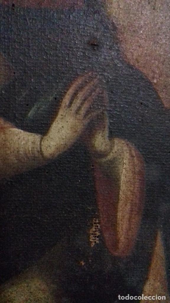 Arte: INMACULADA. SIGLO XVIII. ESCUELA ESPAÑOLA. ÓLEO SOBRE LIENZO. 87x65,4. - Foto 3 - 152842322