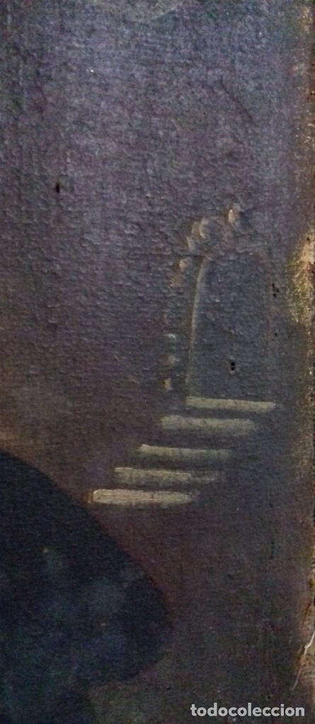 Arte: INMACULADA. SIGLO XVIII. ESCUELA ESPAÑOLA. ÓLEO SOBRE LIENZO. 87x65,4. - Foto 7 - 152842322