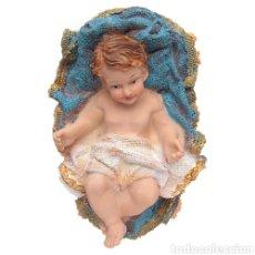 Arte: PRECIOSO JESÚS NIÑO EN CUNA RESINA 15 CM. Lote 152943881