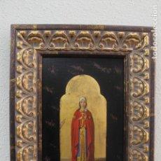 Arte: ICONO SIGLO XIX - SANTA BARBARA. Lote 153102402