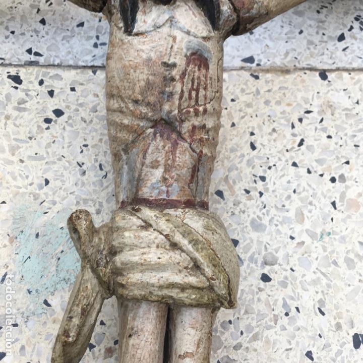 Arte: Cristo en la cruz o crucificado, talla de madera policromada - Foto 19 - 153118974
