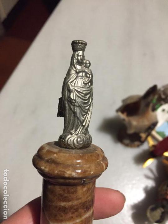 Arte: Antigua Virgen del Pilar con pié de mármol de los años 50-60 - Foto 3 - 153133470