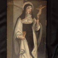 Arte: SANTA PAULA ROMANA. ÓLEO SOBRE TABLA. 67 X 34 CM. PPS. S. XVII.. Lote 153143450