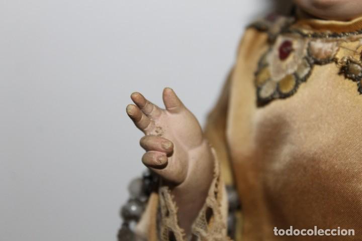 Arte: NIÑO JESÚS ISABELINO EN MADERA TALLADA Y POLICROMADA CAP Y POTA DEL SIGLO XIX - Foto 4 - 153166502