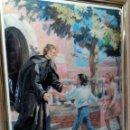 Arte: CUADRO DE METAL CON MARCO EN METAL NEGRO (SAN JUAN BOSCO) AÑOS 80. Lote 153231834