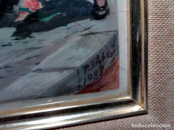 Arte: CUADRO DE METAL CON MARCO EN METAL NEGRO (SAN JUAN BOSCO) AÑOS 80 - Foto 4 - 153231834