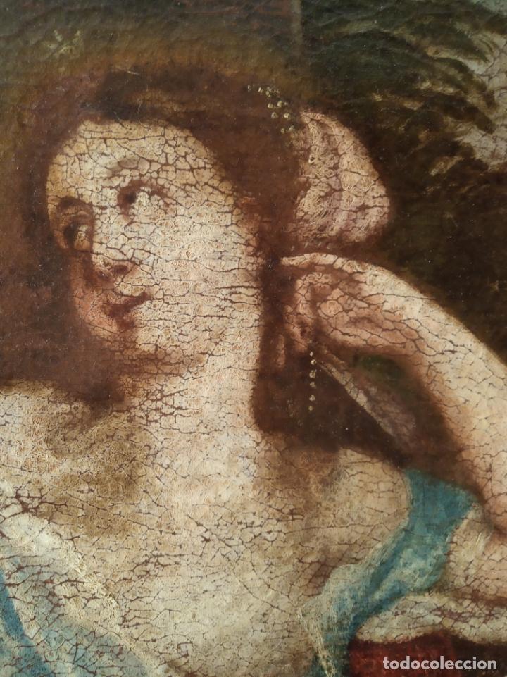 Arte: EXTRAORDINARIO OLEO SOBRE LIENZO - ARREPENTIMIENTO DE MARÍA MAGDALENA - FIRMADO - SIGLO XVII - Foto 4 - 153363926