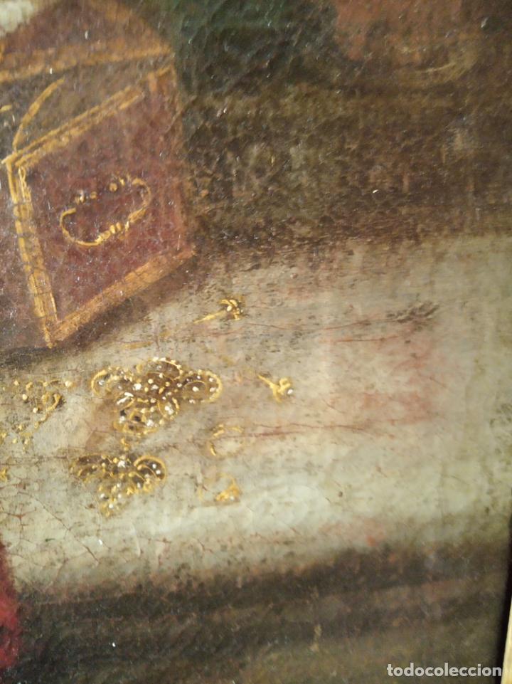 Arte: EXTRAORDINARIO OLEO SOBRE LIENZO - ARREPENTIMIENTO DE MARÍA MAGDALENA - FIRMADO - SIGLO XVII - Foto 5 - 153363926