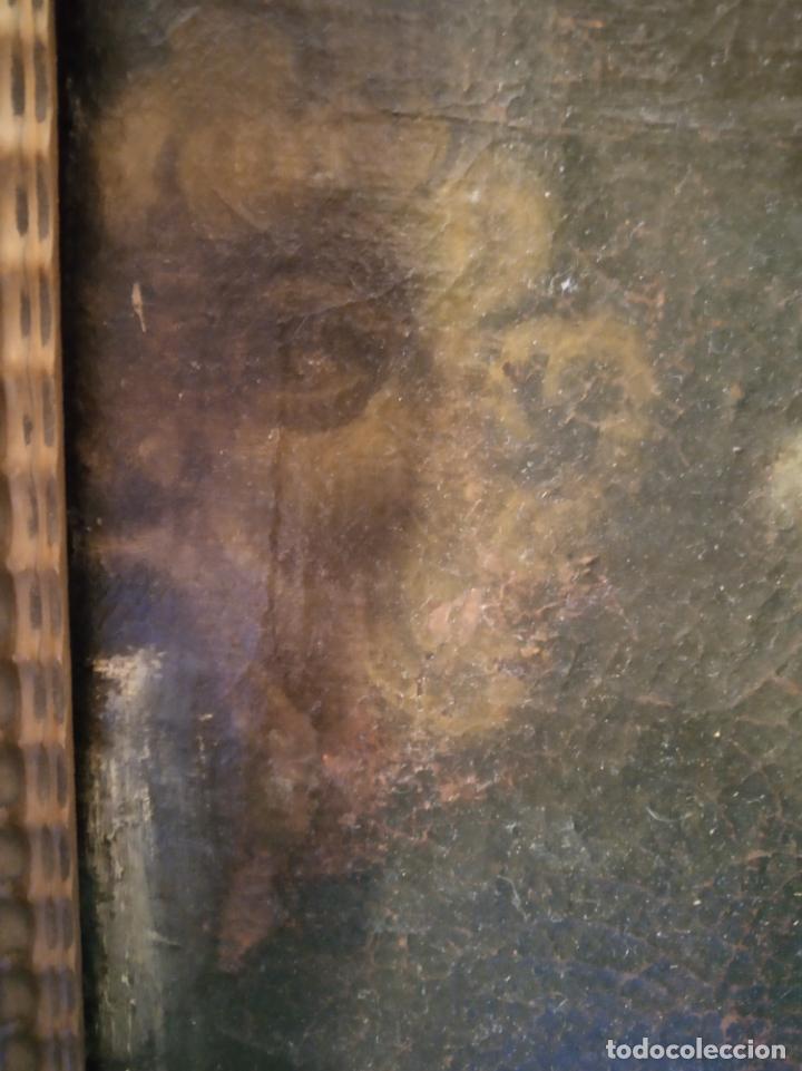 Arte: EXTRAORDINARIO OLEO SOBRE LIENZO - ARREPENTIMIENTO DE MARÍA MAGDALENA - FIRMADO - SIGLO XVII - Foto 8 - 153363926