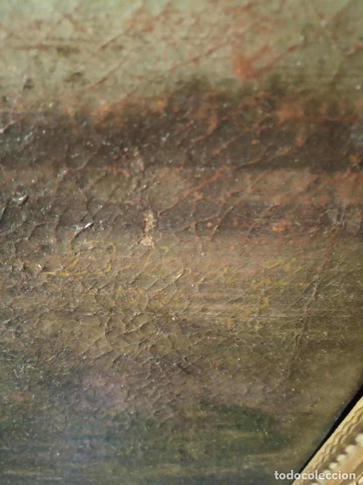 Arte: EXTRAORDINARIO OLEO SOBRE LIENZO - ARREPENTIMIENTO DE MARÍA MAGDALENA - FIRMADO - SIGLO XVII - Foto 9 - 153363926