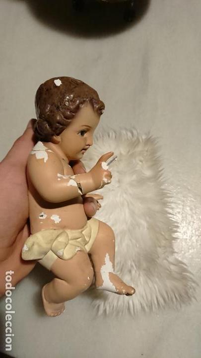 Arte: Antiguo niño Jesús de escayola con piel y ojos de cristal de los años 50-60 - Foto 3 - 153382454