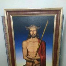 Arte: ECCE HOMO. RELIGIOSO. CRISTO. 152X95 IMPRESIONANTE.. Lote 153594990