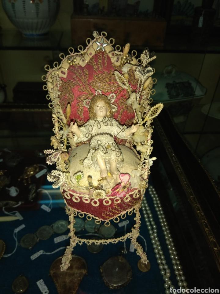 ANTIGUO Y BONITO NIÑO JESÚS DE TERRACOTA (Arte - Arte Religioso - Escultura)