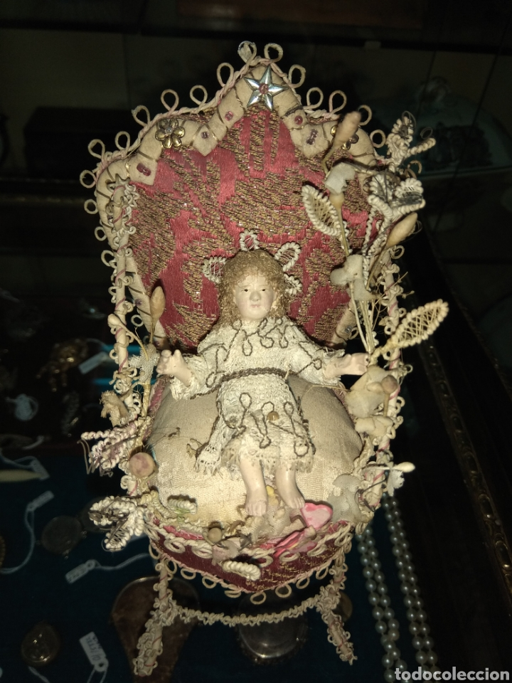 Arte: Antiguo y Bonito Niño Jesús de Terracota - Foto 4 - 153603221