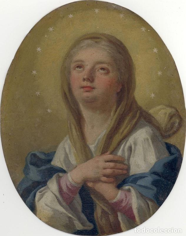 FRANCESCO DE MURA (ITALIAN, 1696 - 1782) VERGINE IMMACOLATA OIL ON COPPER VIRGEN INMACULADA (Arte - Arte Religioso - Pintura Religiosa - Oleo)
